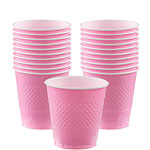 Baby Pink Cups - 355ml Plastic