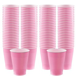 Baby Pink Cups - 473ml Plastic