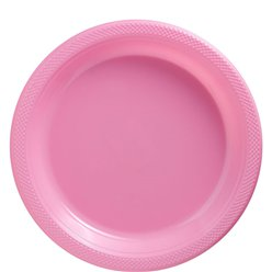 Baby Pink Plates - 23cm Plastic Party Plates