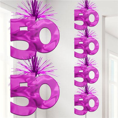 50th Pink Cascade Column