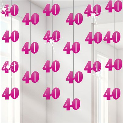 40th Pink String Decoration