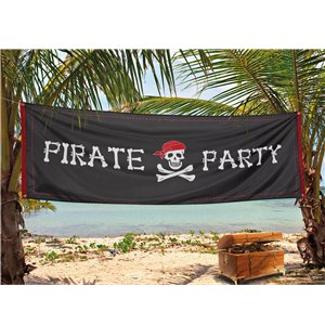 Pirate Party Banner - Fabric 2.2m x 74cm