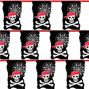 Skull & Crossbone Pirate Bunting - 10m