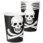 Skull & Crossbones Party Cups - 250ml