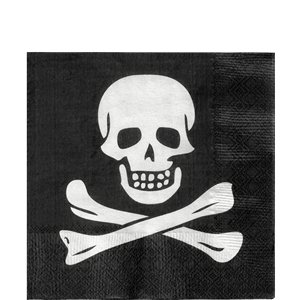 Skull & Crossbones Lunch Napkins - 33cm