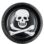 Skull & Crossbone Party Plates - 23cm Paper