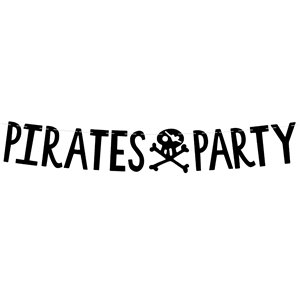 Pirate Happy Birthday Letter Banner - 1m