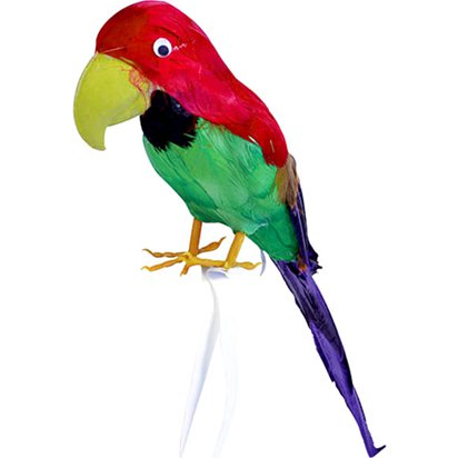 Feathered Parrot - 42cm  - Pirate Fancy Dress Costume Accessories front