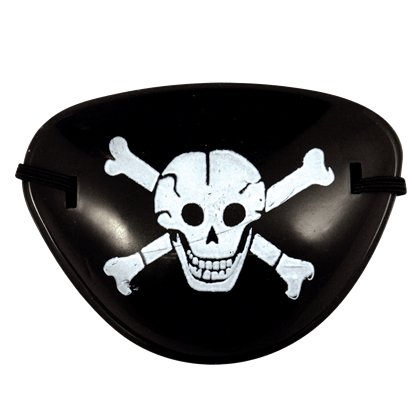Plastic Pirate Eye Patch - Kid's Pirate Fancy Dress Costume Accessories front