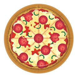 Pizza Party Paper Plates - 23cm