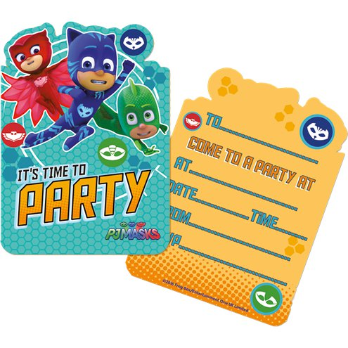 PJ Masks Party Invites