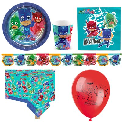 PJ Masks Party Pack - Deluxe Pack for 8