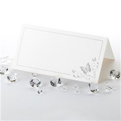 Elegant Butterfly Wedding Place Cards - Silver