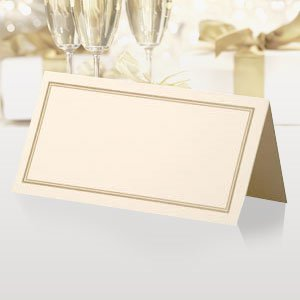 Classic Wedding Place Cards - Ivory/Gold