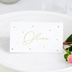 Place Cards Gold Dots Place Cards