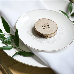 Wooden Log Place Cards