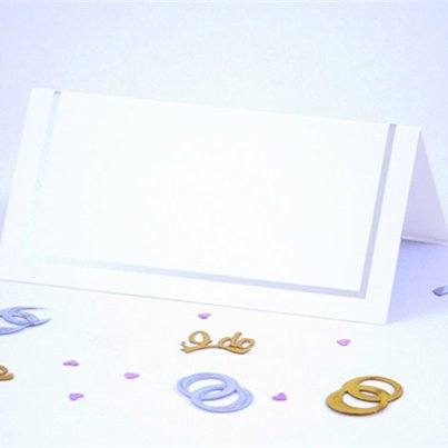 Classic Wedding Place Cards - Silver