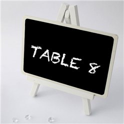 Wedding Table Number Blackboard Stand - 17cm