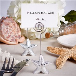Shimmering Starfish Wedding Place Card Holder
