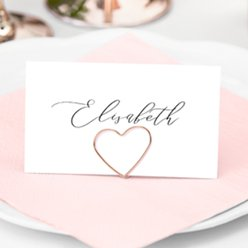 Place Card Holders Rose Gold Heart Place Card Holders