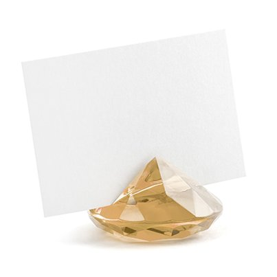 Gold Gem Place Card Holders