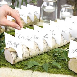 Place Card Holders Wooden Log Multi Place Card Holder