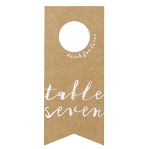 Bottle Table Numbers