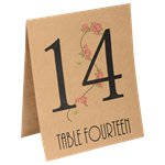 Natural Flowers Table Number Placecards - 15.5cm