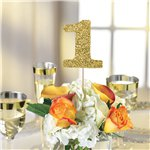 Gold Glitter Table Number Picks