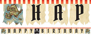 Pirate's Map Jointed Letter Banner - 3m