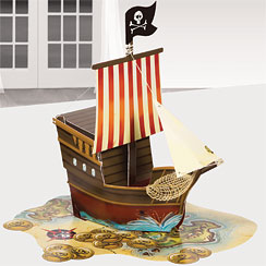 Pirate's Map  Table Centrepiece - 33cm
