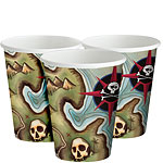 Pirate's Map Cups - 256ml Paper Party Cups