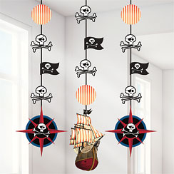 Pirate's Map Hanging Cutouts - 91cm