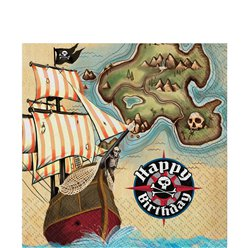 Pirate's Map Napkins - 2ply Paper