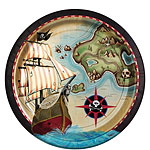 Pirate's Map Plates - 23cm Paper Party Plates