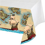 Pirate's Map Plastic Tablecover - 1.4 x 2.6m