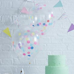 "Pick & Mix Confetti Balloons - 12"" Latex"