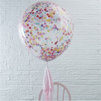 "Pick & Mix Giant Coloured Confetti Balloon - 36"" Latex"