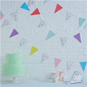 Pick & Mix Sprinkles Mini Bunting - 4m