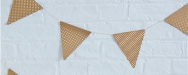 Pick & Mix Kraft Metallic Polka Dot Bunting - 4m