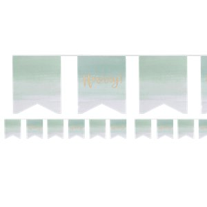 Pick & Mix Hooray Mint Ombre Flag Bunting - 3m
