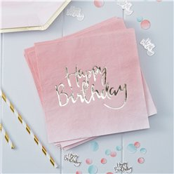 Pick & Mix Happy Birthday Ombre Napkins - 3ply Paper