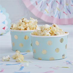 Pick & Mix - 142ml Mint Metallic Polka Dot Treat Tubs
