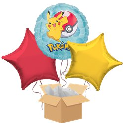 Pokemon Balloon Bouquet - Delivered Inflated