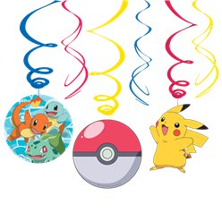 Pokémon Hanging Swirl Decorations