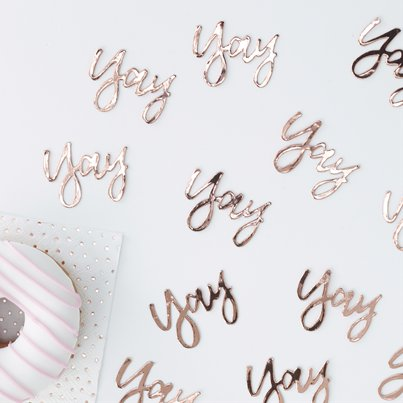 Pick & Mix Rose Gold 'Yay' Confetti - 14g Bag