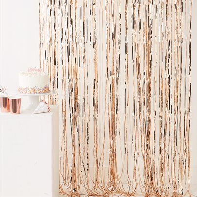 Rose Gold Foil Curtain - 2.5m