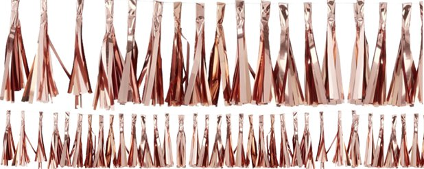 Pick & Mix Rose Gold Tassel Garland - 2m