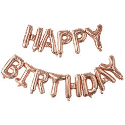 Pick & Mix Rose Gold 'Happy Birthday' Balloon Bunting - 5m