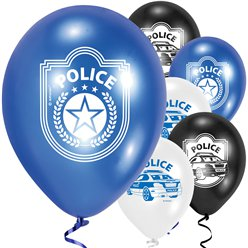 "Police Balloons - 9"" Latex"